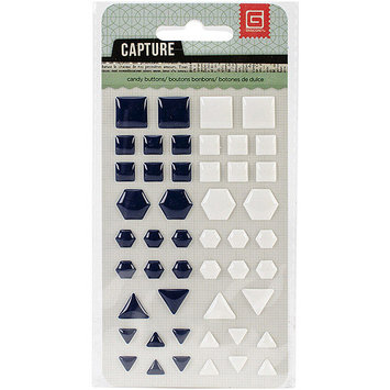 Basic Grey CPT-CB-4480 Capture Candy Buttons Epoxy Stickers-Metallic Shapes