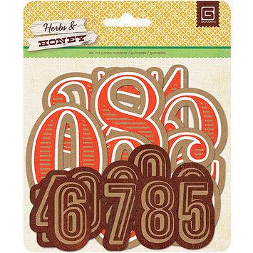Basic Grey Herbs & Honey Jumbo Die-Cut Kraft Numbers