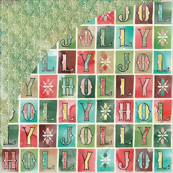 Basic Grey Evergreen Holly Jolly Christmas Scrapbook Paper