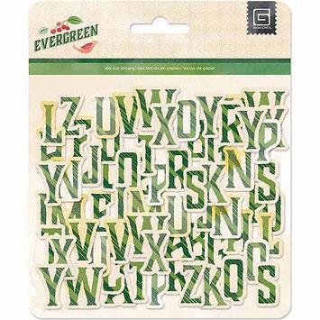 Basic Grey Evergreen Chipboard Alphabet Christmas Scrapbook Embellishments