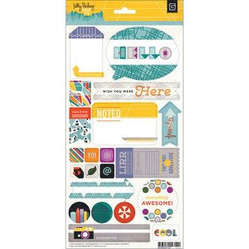 Basic Grey Second City Title Sticker Scrapbook Embellishments