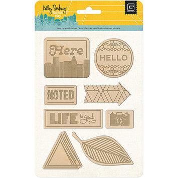 Basic Grey Second City Laser Wood Sticker Scrapbook Embellishments