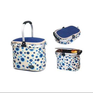 Picnic & Beyond Aluminum Framed Picnic Cooler Basket in Blue