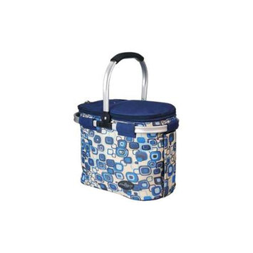 Picnic & Beyond Blue Aluminum Framed Picnic Cooler Basket for 2