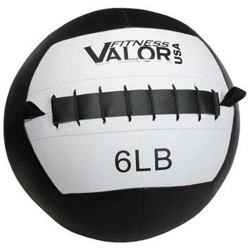 Valor Athletic WB-6 6lb Wall Ball - Black