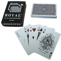 Trademark Poker One Blue Deck- Royal Plastic Playing Cards w/Star Pattern
