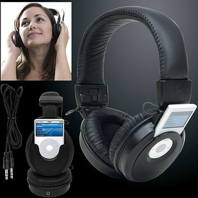 Trademark Commerce Trademark Global iPod Nano Headset Headphones Music Player