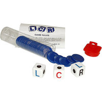Trademark Left Center Right Dice Game - Blue