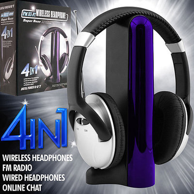 Trademark Commerce Trademark Games Digital 4-in-1 Wireless Headphones