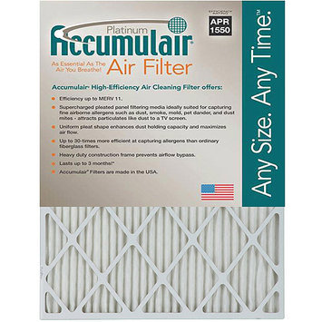 10x20x1 (9.5 x 19.5) Accumulair Platinum 1-Inch Filter (MERV 11) (4 Pack)