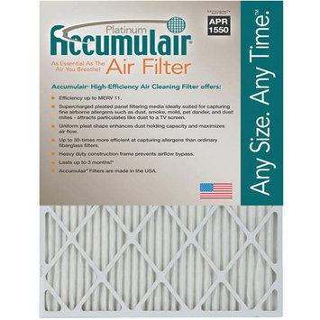 20x22x1 (Actual Size) Accumulair Platinum 1-Inch Filter (MERV 11) (4 Pack)