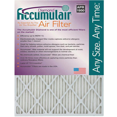 25x32x1 (Actual Size) Accumulair Diamond 1-Inch Filter (MERV 13) (4 Pack)
