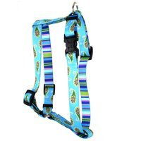 Yellow Dog Design H-BUP100XS Blue Paisley Roman Harness - Extra Small