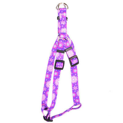 Yellow Dog Design SI-PUF104XL Purple Flowers Step-In Harness - Extra Large