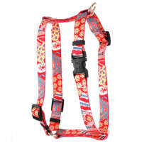 Yellow Dog Design H-BHPW101SM Bohemian Patchwork Roman Harness - Small/Medium