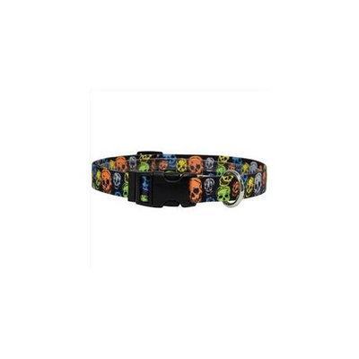 Yellow Dog Design NSK100XS Neon Skulls Standard Collar - Extra Small