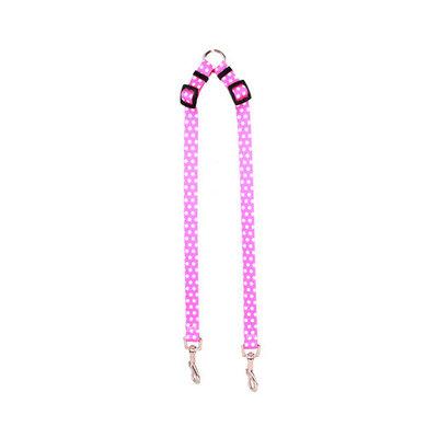 Yellow Dog Design NPP108 New Pink Polka Dot Coupler Lead - Small