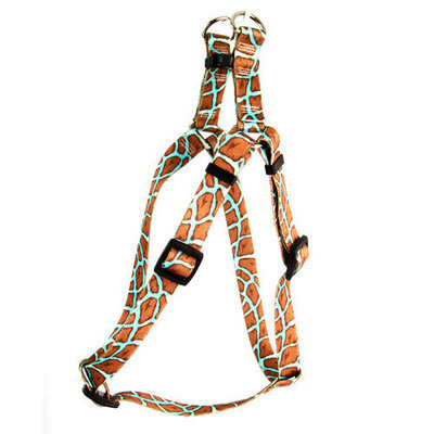 Yellow Dog Design SI-GIRP102M Giraffe Pink Step-In Harness - Medium