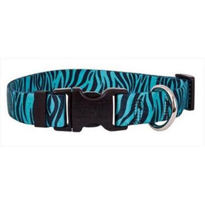 Yellow Dog Design ZBT103L Zebra Teal Standard Collar - Large