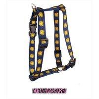 Yellow Dog Design H-ZBP103L Zebra Pink Roman Harness - Large