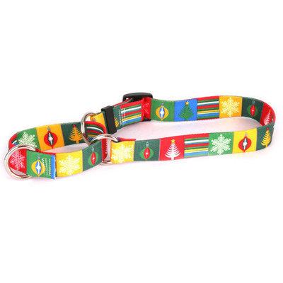 Yellow Dog Design M-BLOC102M Holiday Blocks Martingale Collar - Medium