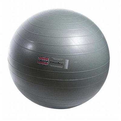 Power Systems 80017 55cm VersaBall Stability Ball - Silver Frost