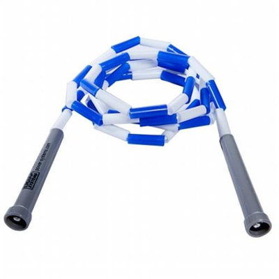 Power Systems 35207 7 ft. Beaded Jump Rope - Blue-White