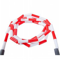 Power Systems 35218 8 ft. Beaded Jump Rope - Red-White