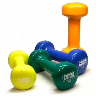 Power Systems 61706 Deluxe Vinyl Coated Dumbbells