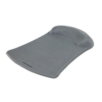 Monoprice Mouse Pad with Gel Wrist Rest - Silver