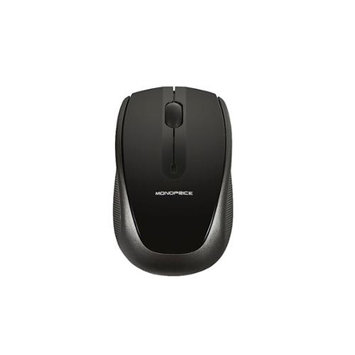 Monoprice M19 Wireless 3-Button Optical Mouse - Black - Optical - Wireless - Radio Frequency - Black - USB - Scroll Wheel - 3 Button(s)
