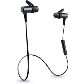 Merkury - Force Bluetooth Behind-the-neck Earbud Headphones - Black/blue