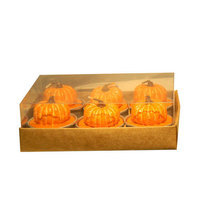 Fantastic Craft Pumpkin Tea Light Novelty Candle Set
