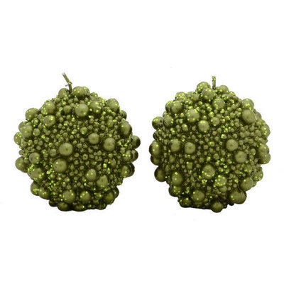 Fantastic Craft Ball Candle Novelty Candle Color: Green