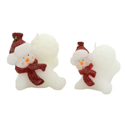 Fantastic Craft Snowman On Ball Novelty Candle Set