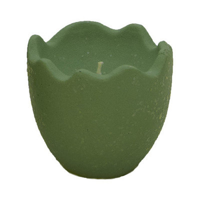 Fantastic Craft Egg Shell Novelty Candle Color: Green, Size: 3.75