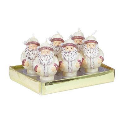 Fantastic Craft Santa Boxed Tea Light Novelty Candle Set