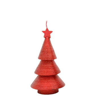 Fantastic Craft Swirling Cone Tree Novelty Candle Size: 7.5