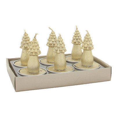 Fantastic Craft Cypress Tree Tea Light Novelty Candle Color: Champagne