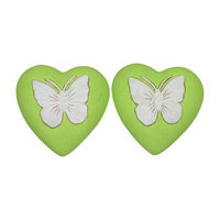 Fantastic Craft Butterfly Heart Novelty Candle Color: Green