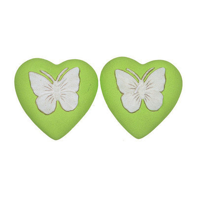 Fantastic Craft Butterfly Heart Novelty Candle Color: Pink