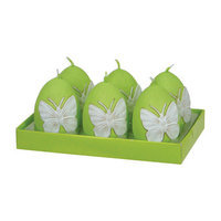 Fantastic Craft Butterfly Egg T- lite Novelty Candle Color: Green