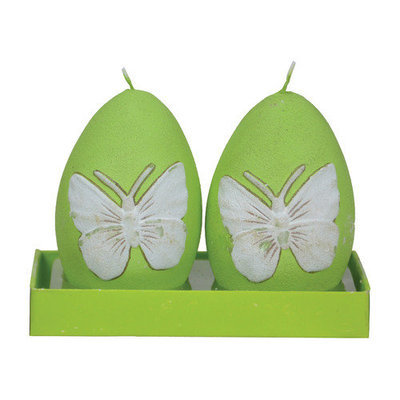 Fantastic Craft Butterfly Egg Novelty Candle Color: Pink