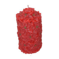 Fantastic Craft Poinsettia Pillar Candle Size: 5