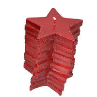 Fantastic Craft Stacking Stars Novelty Candle Color: Red