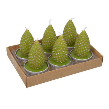 Fantastic Craft Pinecone Tea Light Novelty Candle Color: Snow