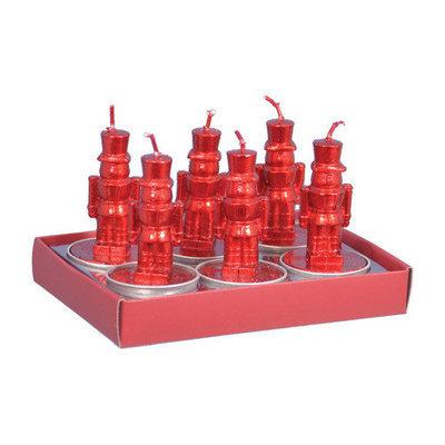 Fantastic Craft Nutcracker Tea Light Novelty Candle Color: Red