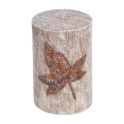 Fantastic Craft Maple Leaf Pillar Candle Size: 5