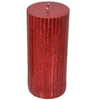 Fantastic Craft Pillar Candle Color: Red, Size: 4
