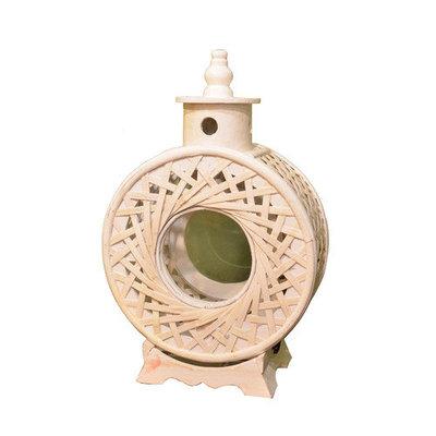 Fantastic Craft Round Woven Lantern, 18 H x 12 W x 6 D